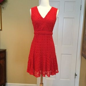 Anthropologie Fit and Flare Dress sz 2
